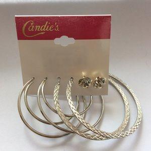 Candie's pair of hoop earing and studs